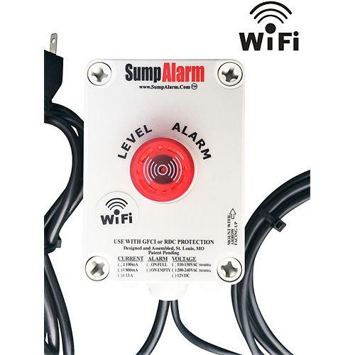 Système de surveillance sans fil (WiFi) / pompe de puisard extérieure ou moniteur de fosse septique / alarme de niveau haut / bas