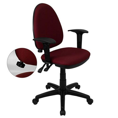 Flash Furniture Burgundy Mid-Back Task Chair