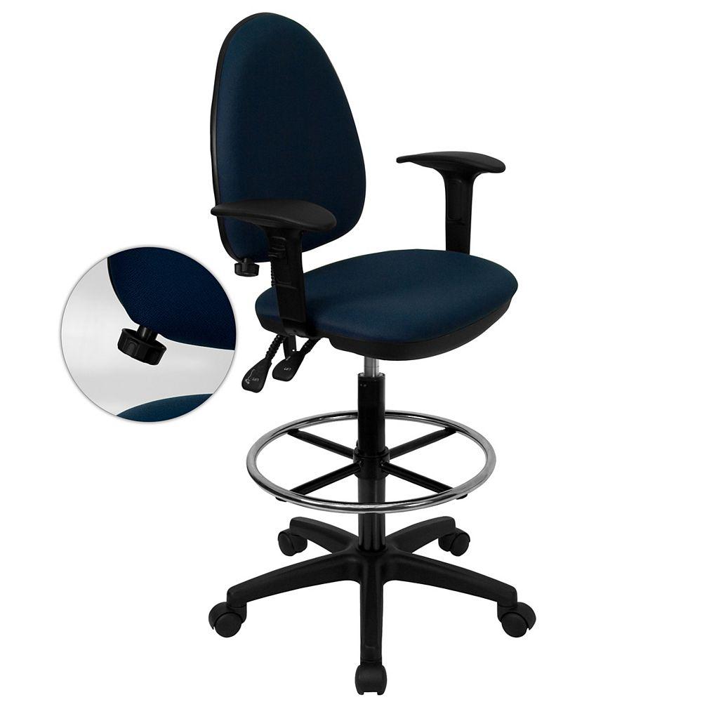 Flash Furniture Navy Fabric Draft Chair w/Arm