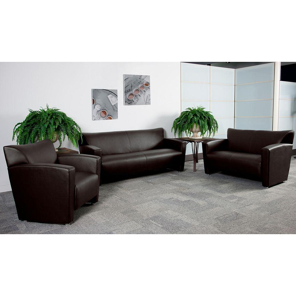 Flash Furniture Fauteuil en cuir brun de la série HERCULES Majesty
