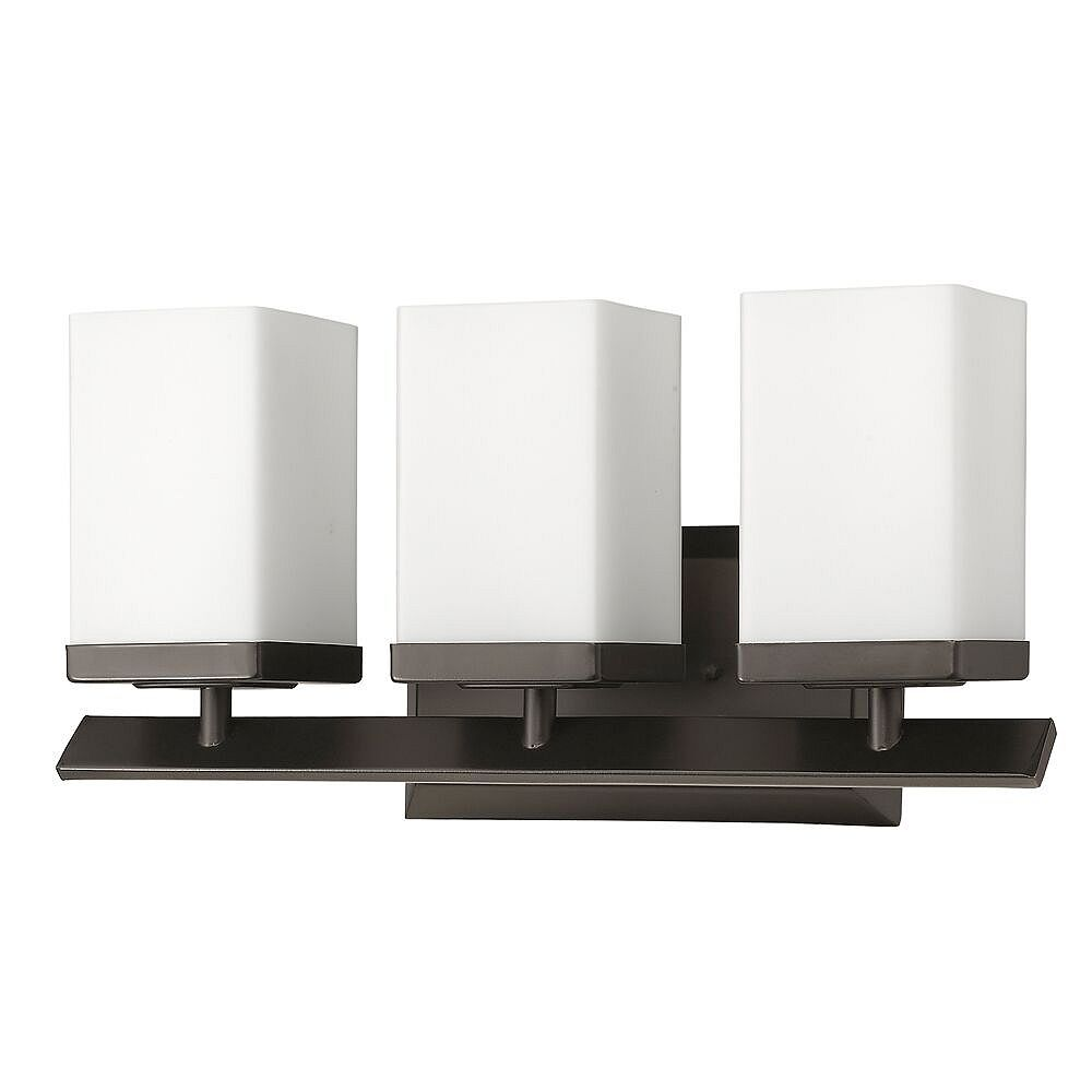 Acclaim Burgundy 3-Light Wall Light w/Glass Shade in Oil-Rubbed Bronze