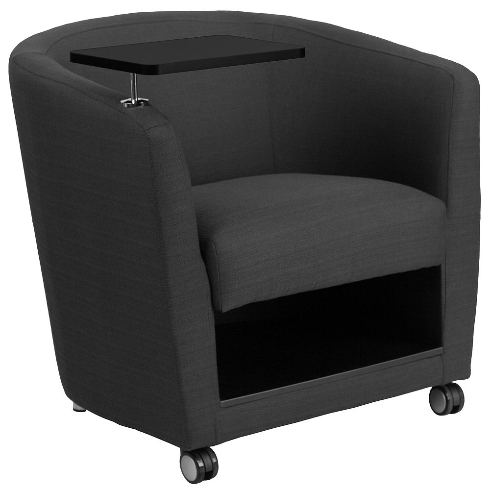Flash Furniture Gray Fabric Tablet Chair