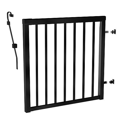 Peak Railblazers Matte Black Picket Gate