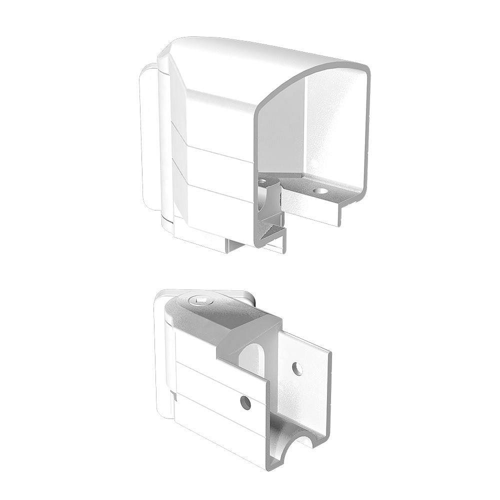 Peak Railblazers White Horizontal Angle Bracket Kit