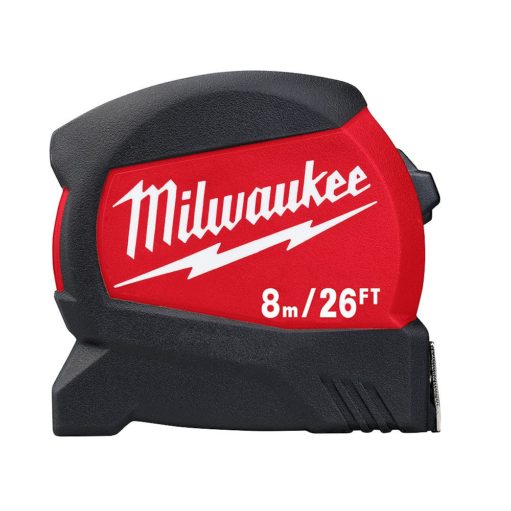 Milwaukee Tool 8 m/26 ft. x 1.2 -inch Compact Wide Blade Tape Measure with 15 ft. Reach