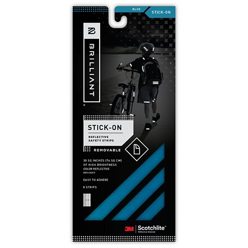 Reflective Strips Stick-On Blue (8 Strips)