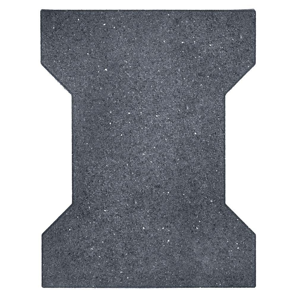 Multy Home 18-inch x 14-inch Grey Rubber I-Tile Paver