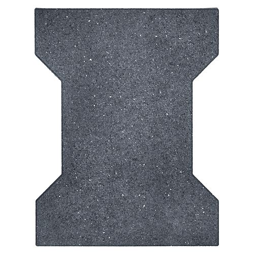 Multy Home 18 in x 14 in Rubber I-Tile Paver, Grey