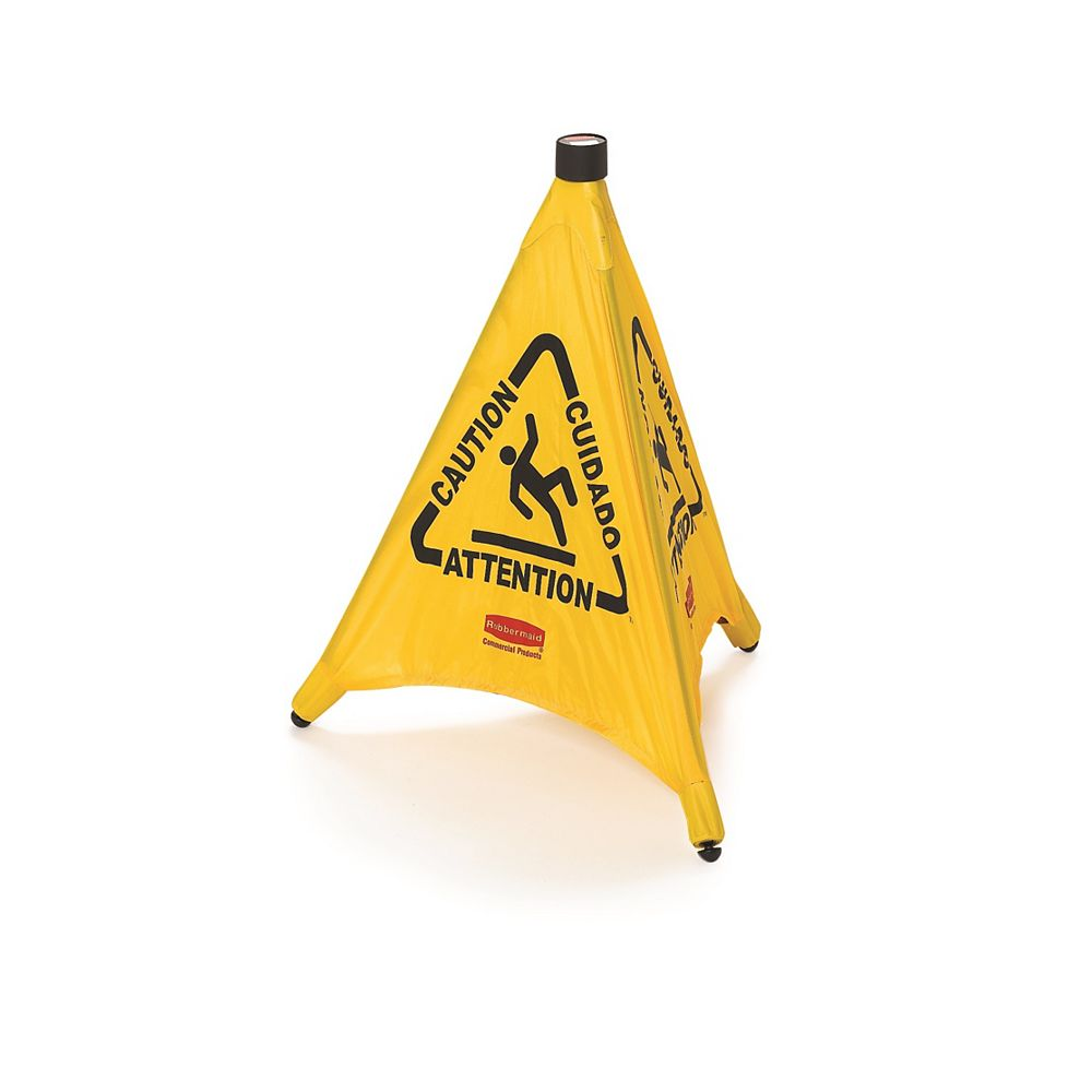 Rubbermaid 30-inch Commercial Products Pop Up Wet Floor Sign