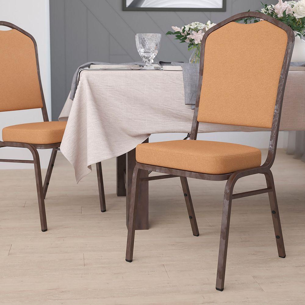 Flash Furniture Chaise de banquet en tissu brun