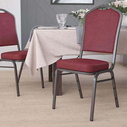 Burgundy Vinyl Banquet Chair