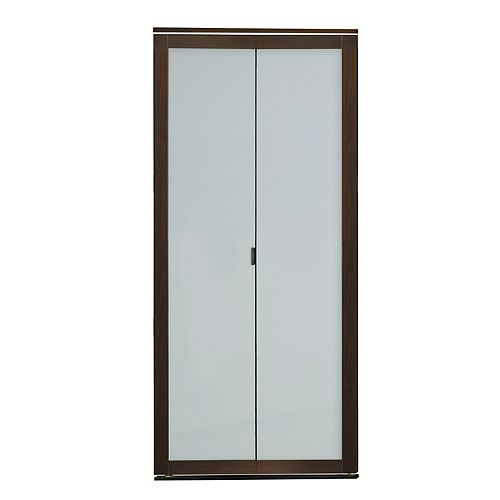 1 Lite Indoor Studio 30 in. X 80.5 in. MDF with Vinyl Frame and Frosted Mirror Closet Bi-Fold Door