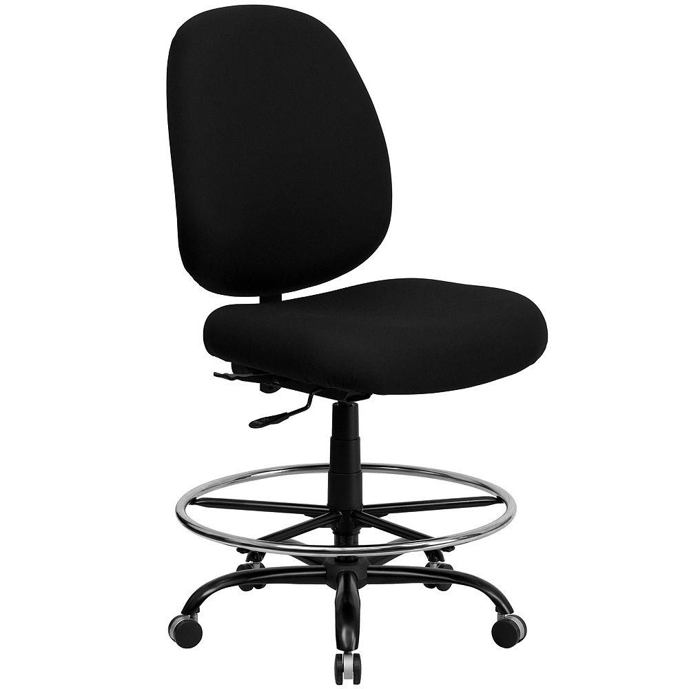 Flash Furniture Black Fabric 400LB Draft Chair