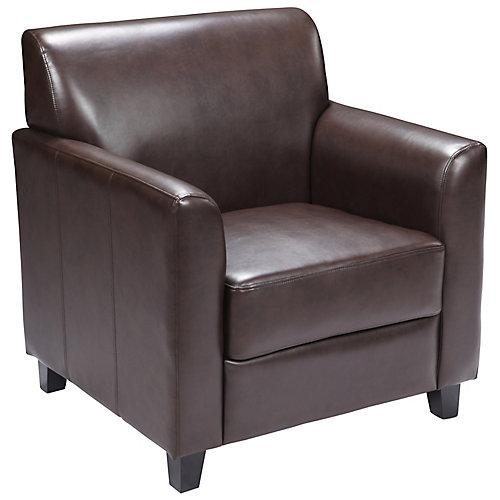 HERCULES Diplomat Series Brown Leather Chair