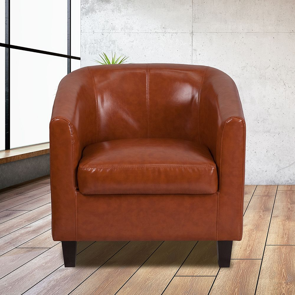 Flash Furniture Cognac Leather Guest Chair