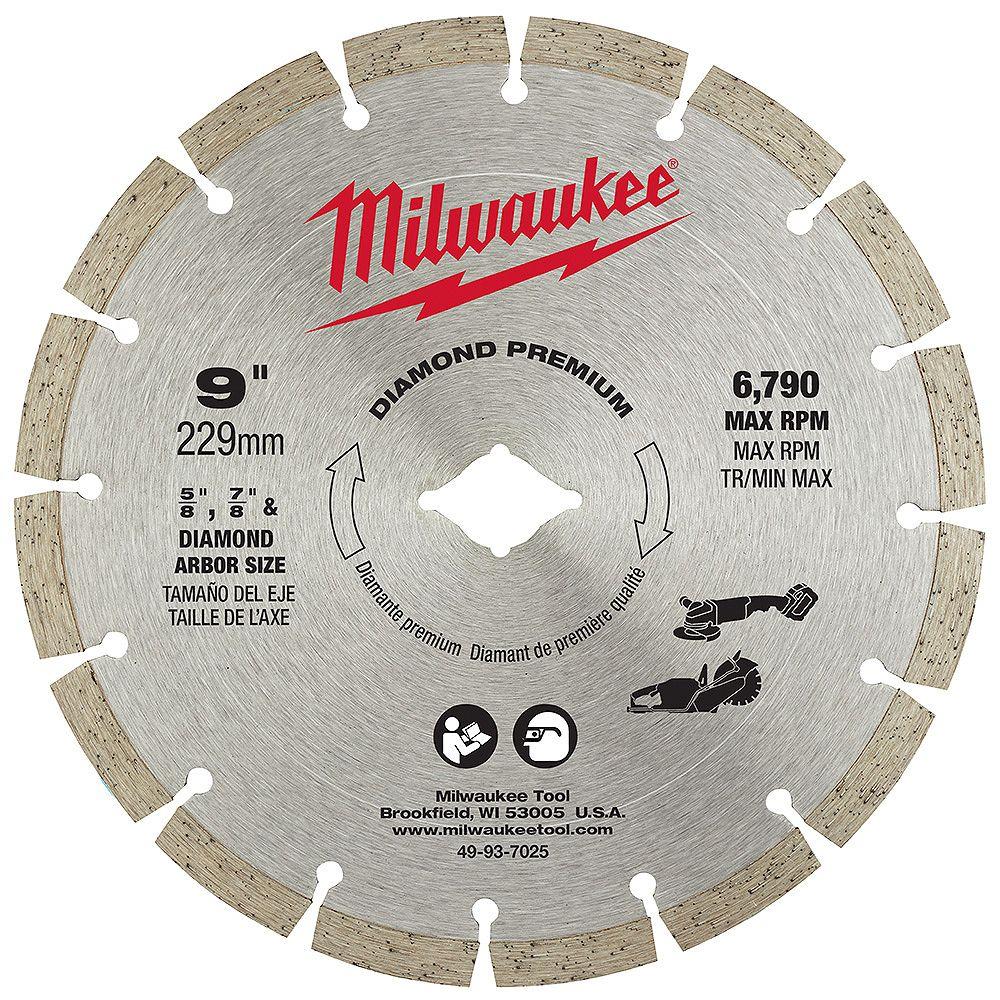 Milwaukee Tool 9 -inch Diamond Premium Segmented Blade (1-Pack)