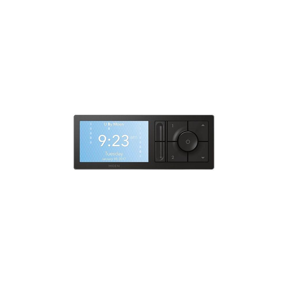 MOEN U By Moen 2-Outlet Digital Shower Controller In Matte Black (Valve Sold Separately)