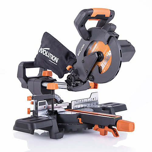 10 Amp 7 1/4 in. Sliding Compound Miter Saw w/Multi-Material 20-T Blade
