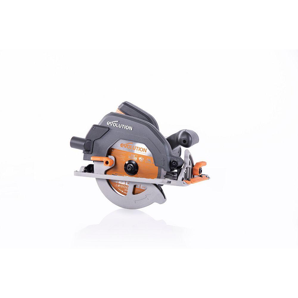 Evolution Power Tools Scie circulaire 15 A 7-1 / 4 po avec lame de coupe multi-matériaux