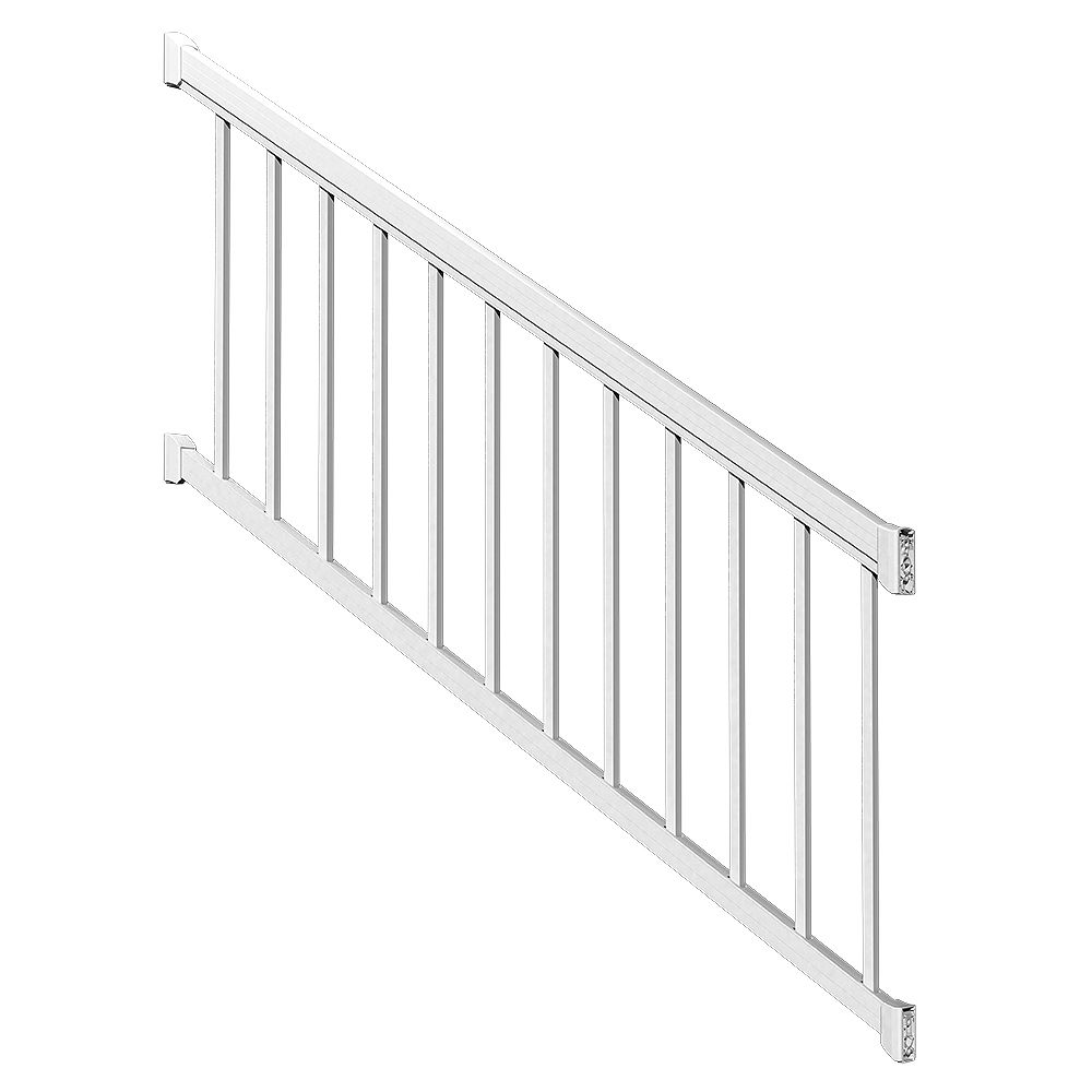 Peak Railblazers 6 ft. White Stair Rail Kit with Standard Pickets