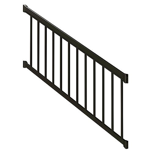 6 ft. Matte Black Stair Rail Kit with Standard Pickets