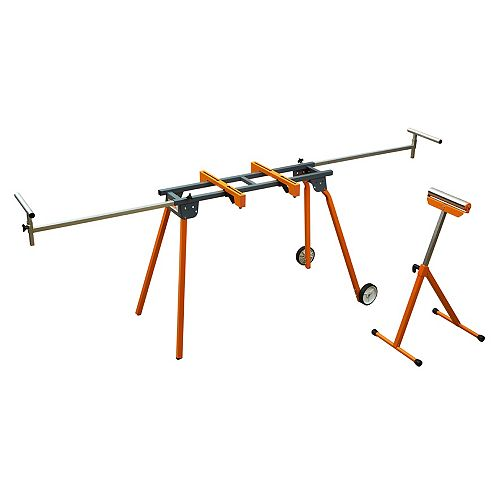 Bora Mitre Saw Stand with Pedestal Roller