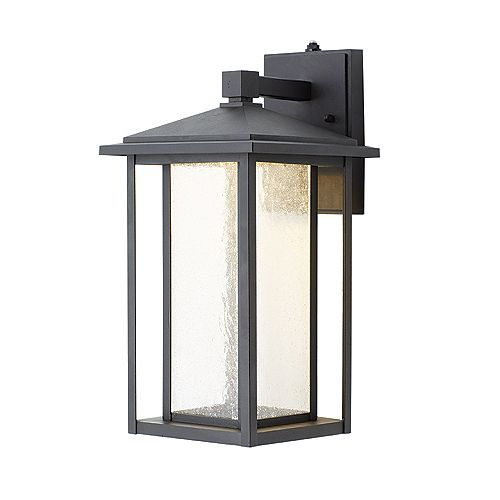 Black Integrated Led Exterior Wall Lantern