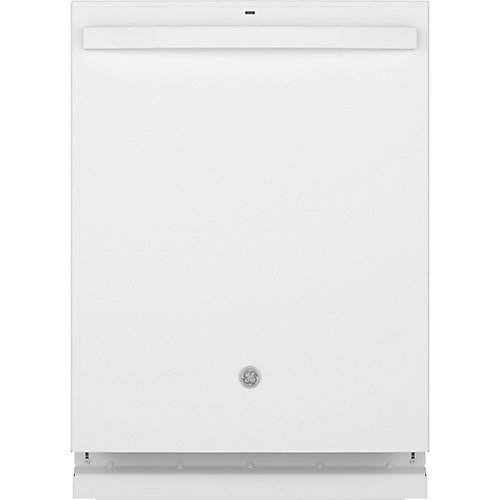 24-inch Top Control Built-In Dishwasher with Stainless Steel Tall Tub in White