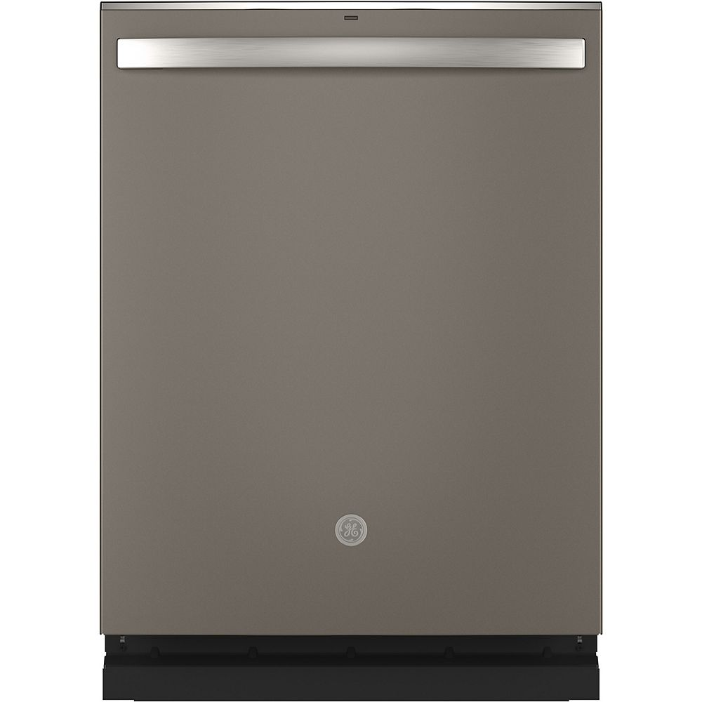 GE 24-inch Top Control Built-In Dishwasher with 3rd Rack and Stainless Steel Tall Tub in Slate