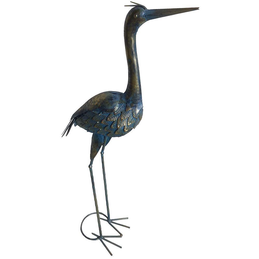 Angelo Décor 37-inch Metal Heron Statue