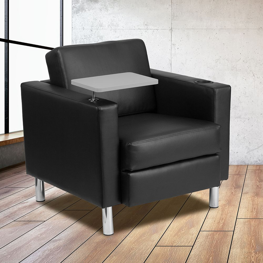 Flash Furniture Black Leather Tablet Chair