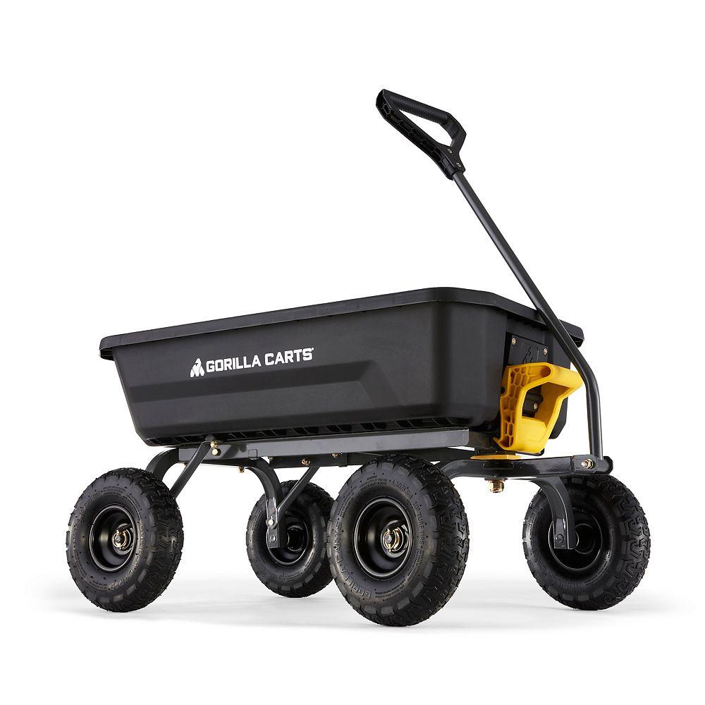 Gorilla Carts 4 Cu. ft. Poly Dump Cart
