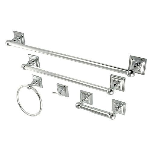 5-Piece Bathroom Accessory Set in Ch