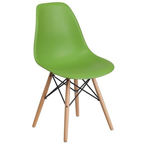 Green Plastic/Wood Chair