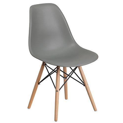 Gray Plastic/Wood Chair
