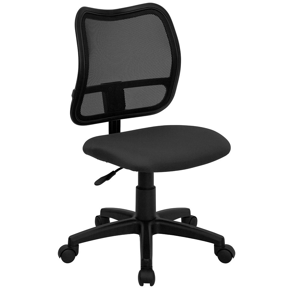 Flash Furniture Gray Mid-Back Task Chair
