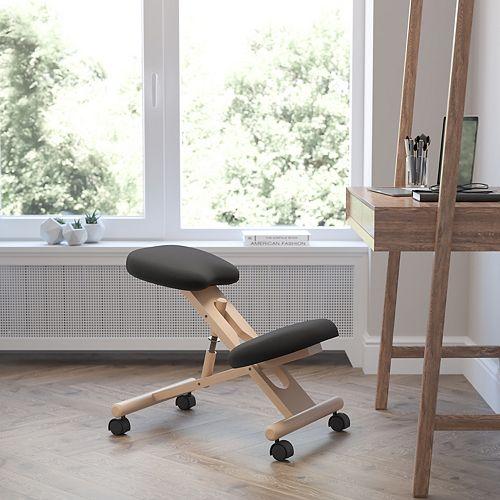 Black Mobile Kneeler Chair