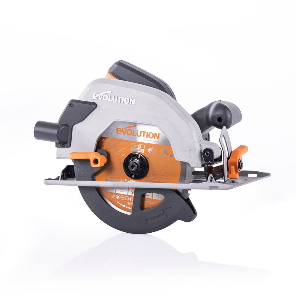 Evolution Power Tools 10 Amp 7-1/4 in. Circular Saw w/ Multi-Material Cutting Blade