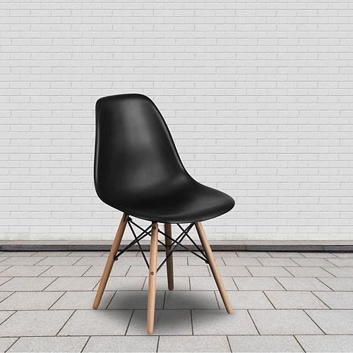Black Plastic/Wood Chair