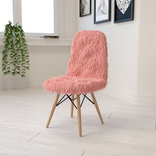 Hermosa Pink Shaggy Chair