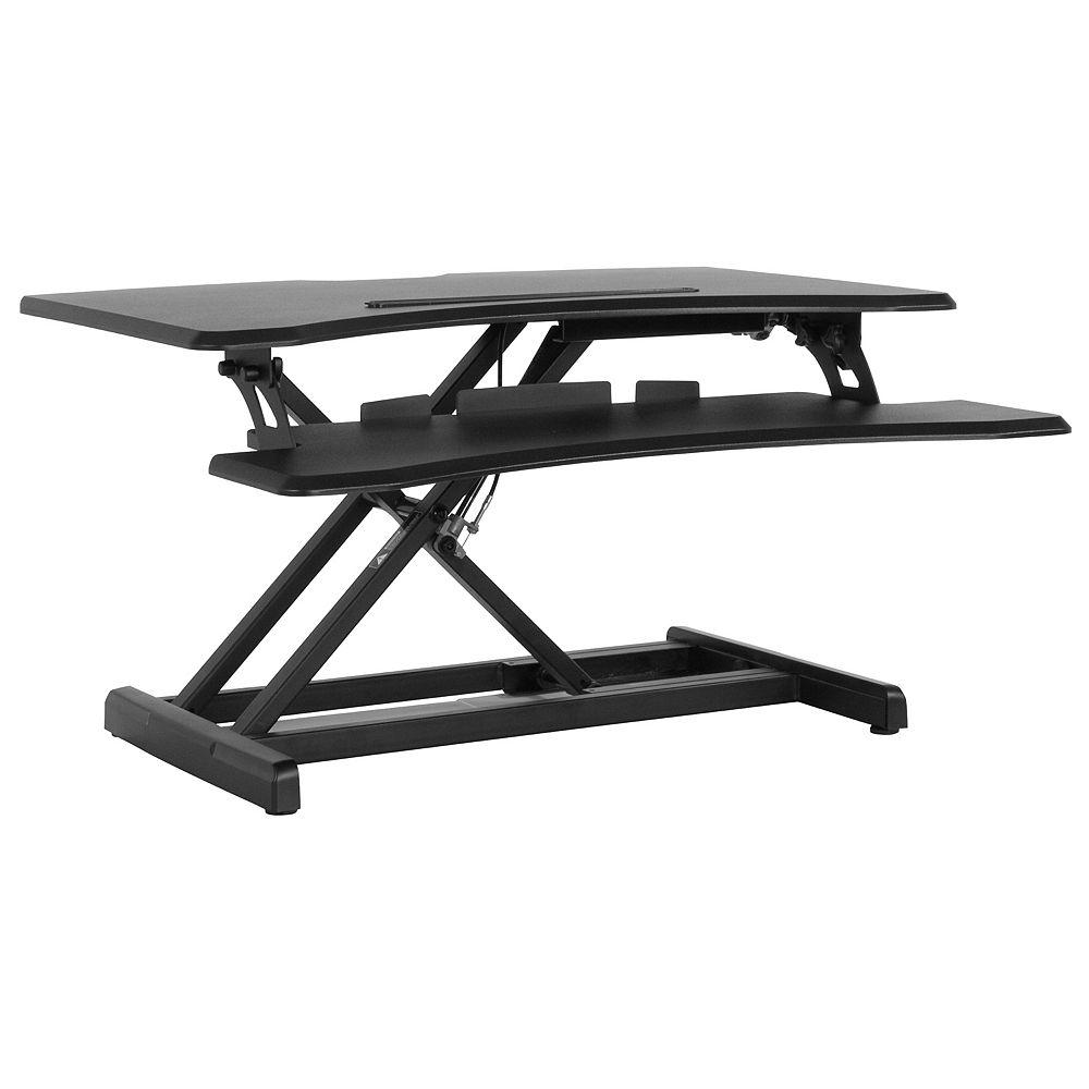 Flash Furniture Black Sit/Stand Desk