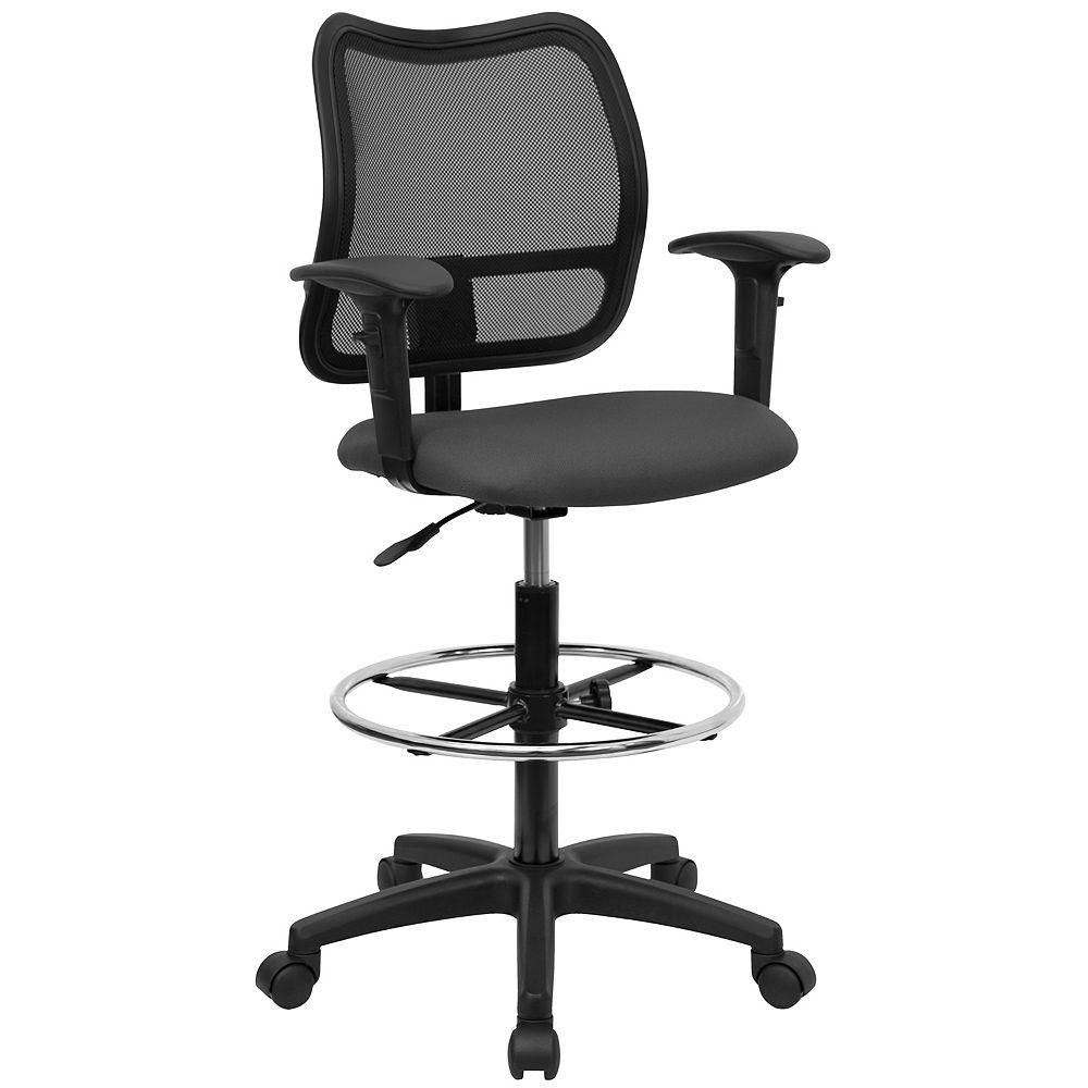 Flash Furniture Gray Mesh Draft Chair w/ Arms