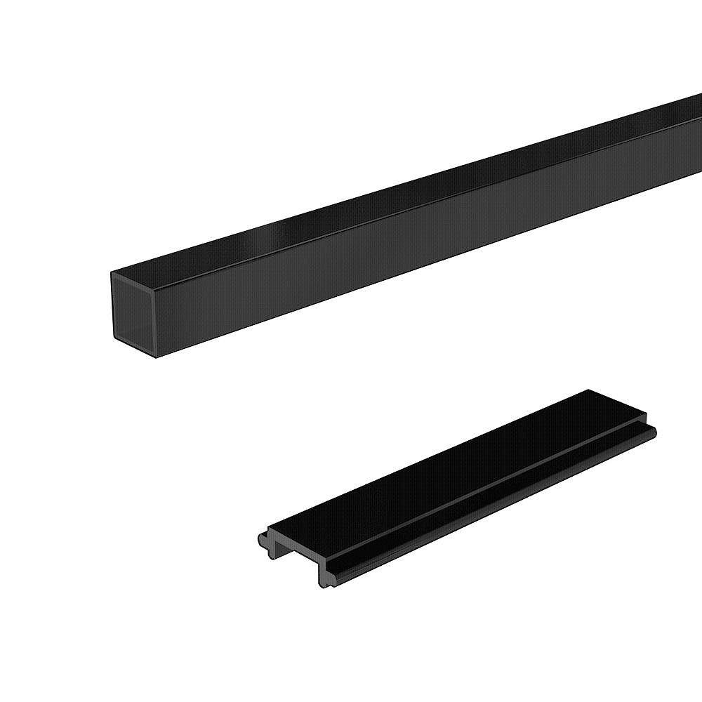 Peak Railblazers 4 ft. Aluminum Deck Railing Pickets and Spacers in Matte Black