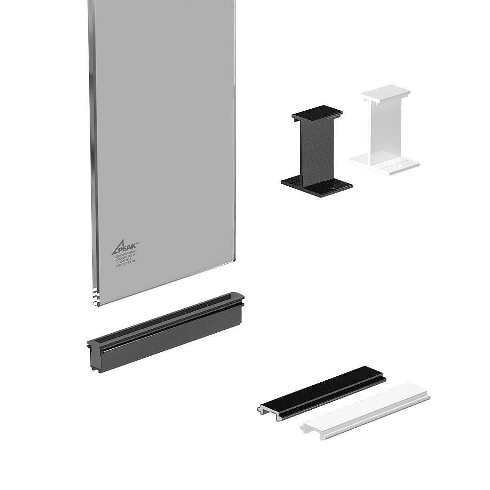 Peak Railblazers 6-inch Aluminum Deck Railing Tinted Glass Panel Kit