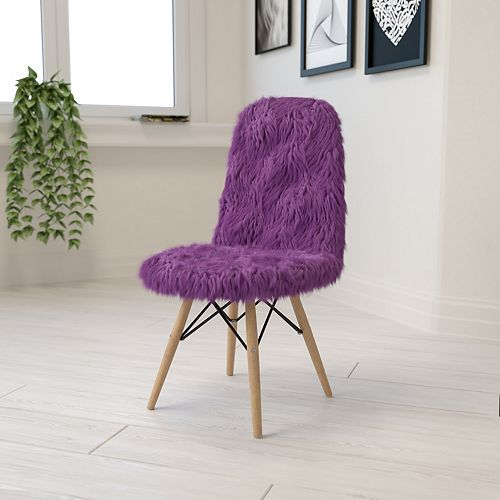 Purple Shaggy Chair