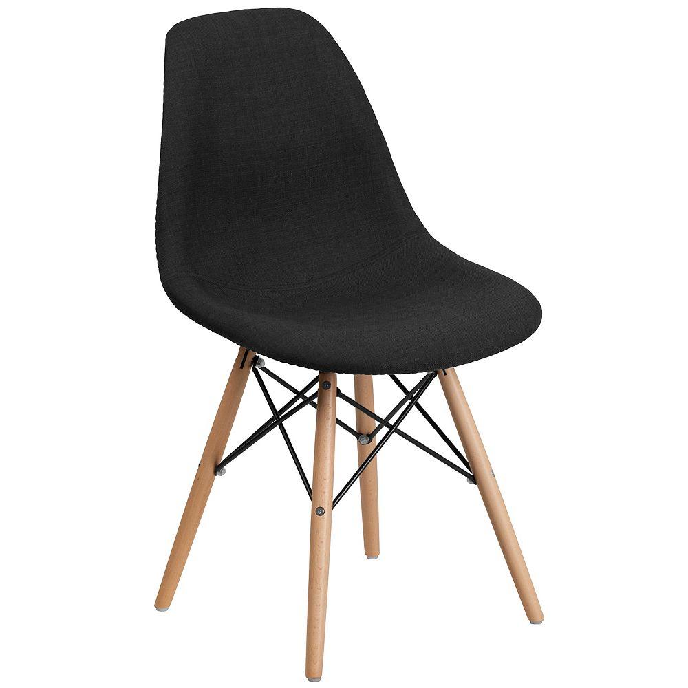 Flash Furniture Black Fabric/Wood Chair