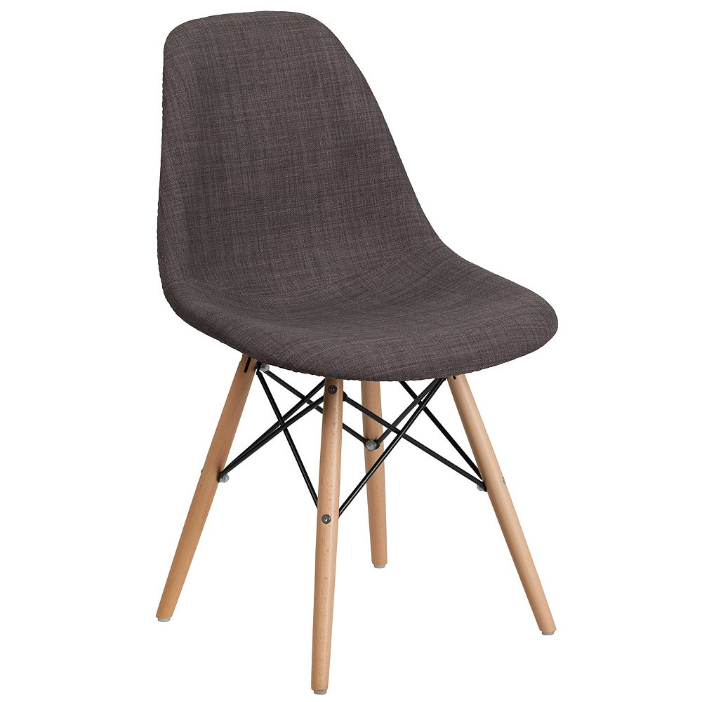 Flash Furniture Gray Fabric/Wood Chair