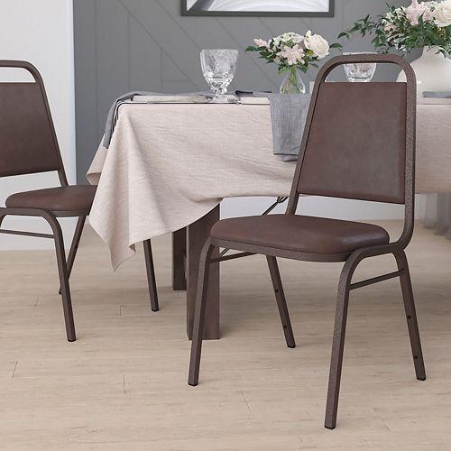 Brown Vinyl Banquet Chair