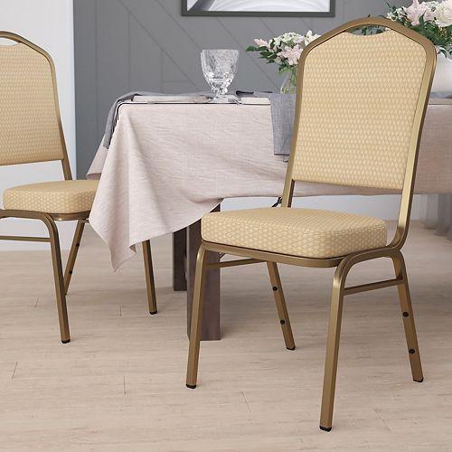 Beige Fabric Banquet Chair