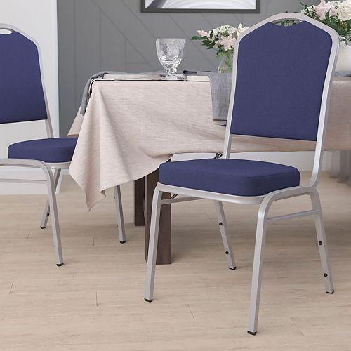 Navy Fabric Banquet Chair